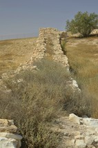 Excavated wall at tel Arad