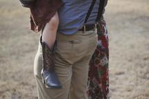 family portrait torsos and cowboy boots