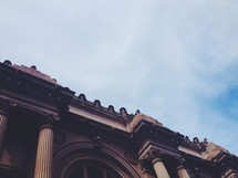 columns and roof line