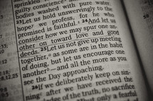 love and good deeds - Bible verse