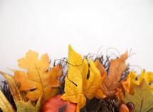 fall foliage wreath