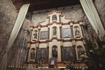 The altar of a Spanish-style cathedral