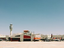 airport, airplanes, travel, tower, runway, terminals