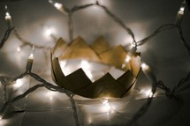 string of lights and crown