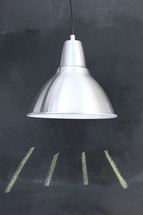 lamp and chalk line illumination