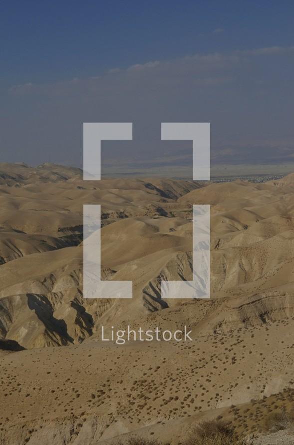 Velvety hills of the Negev wilderness