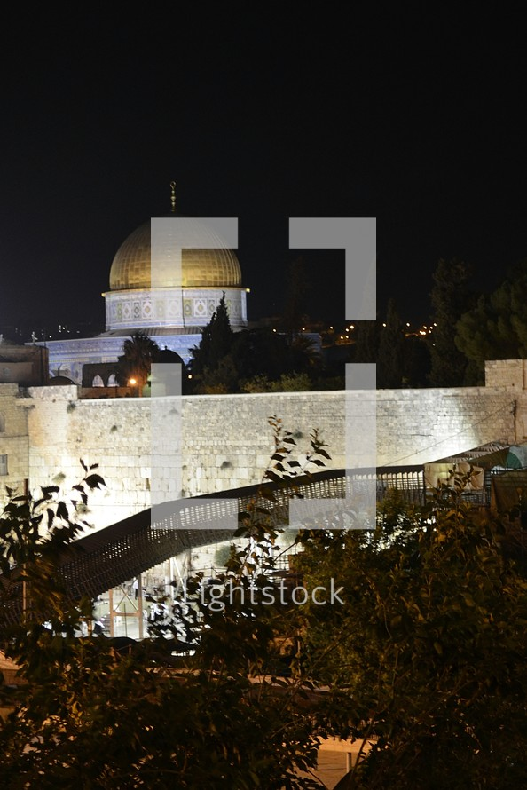 Dome of the Rock at night