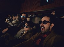 3D glasses at a movie theater