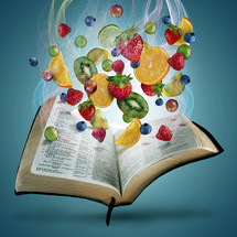 fruit from the pages of a Bible