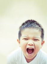 boy child screaming