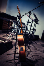guitar stand on stage