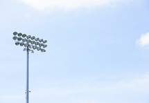 stadium lights against the sky