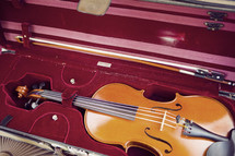 violin in a case