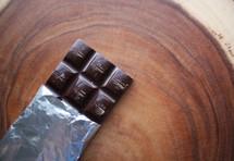 chocolate bar on wood