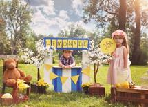 children running a lemonade stand