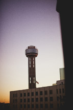 Reunion tower at dusk