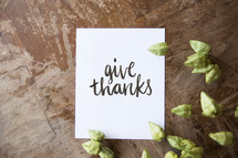 give thanks note card