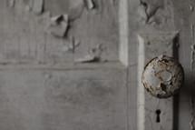 Old door with peeling paint