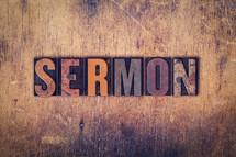 word sermon