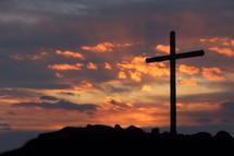 cross silhouette at sunrise