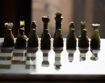 Marble chess set.