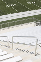 bleachers and football field