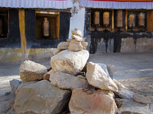 pile of rocks in Potala Palace