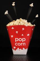 flying popcorn