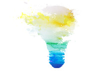 lightbulb in watercolor
