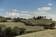 a green landscape in Italy
