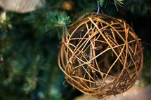 christmas ornament - ball of twigs