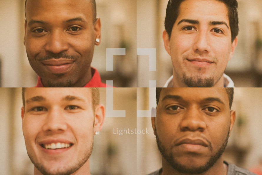 Faces of men for men's group