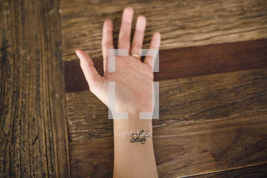 Selah tattoo