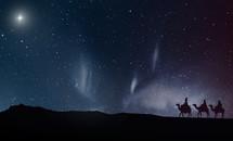 Three wise men traveling at night