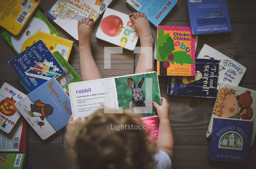 toddler reading children's books