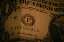 dollar bill closeup