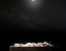baby Jesus under the stars