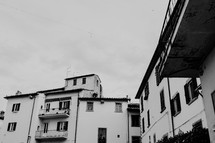 balconies on row houses