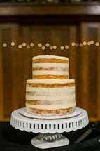 wedding cake on a stand