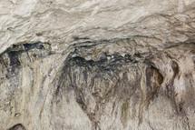 walls of a sea cave