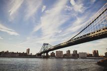 A bridge leading into New York City