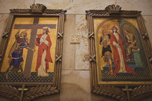first and second stations of the cross paintings