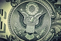 The Eagle on the back of a one dollar bill