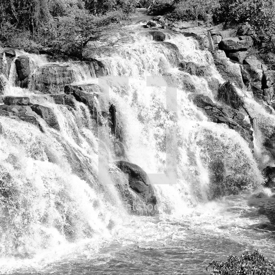 rapids in a river