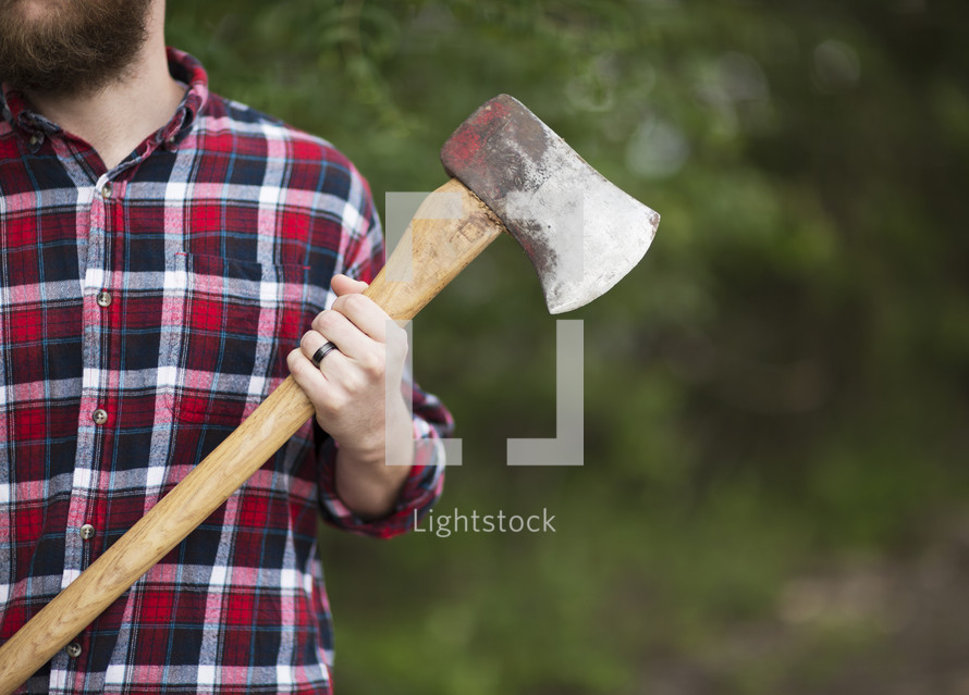 man with an ax