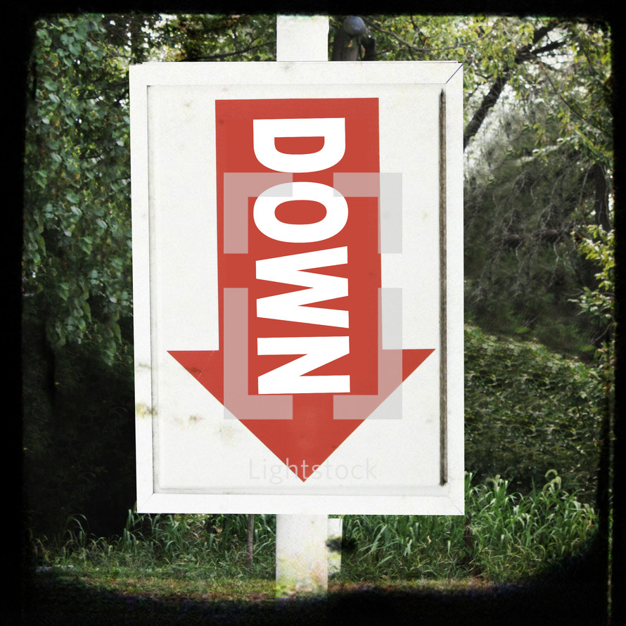 down arrow sign