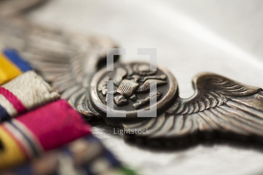 military wings pin, aviator