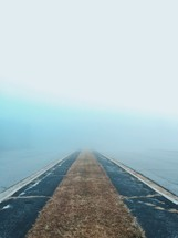 runway and fog