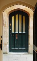 Chapel door.