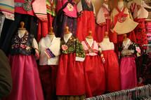 dresses in a Korean shop